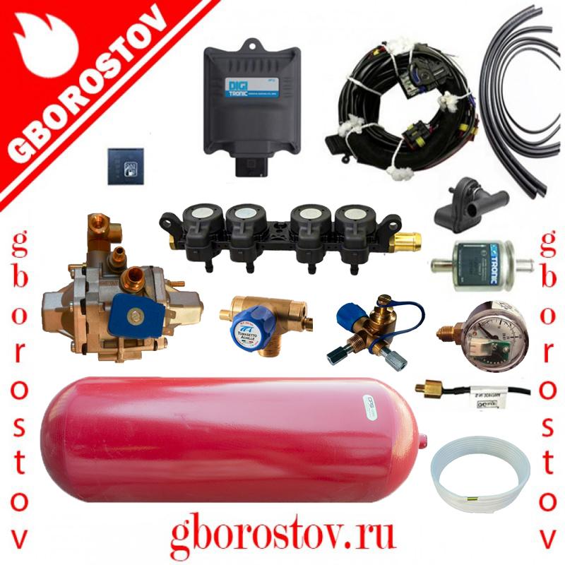 Метан Digitronic Maxi-2 редуктор Tomasetto CNG AT12 форсунки A.E.B  1.9 Om