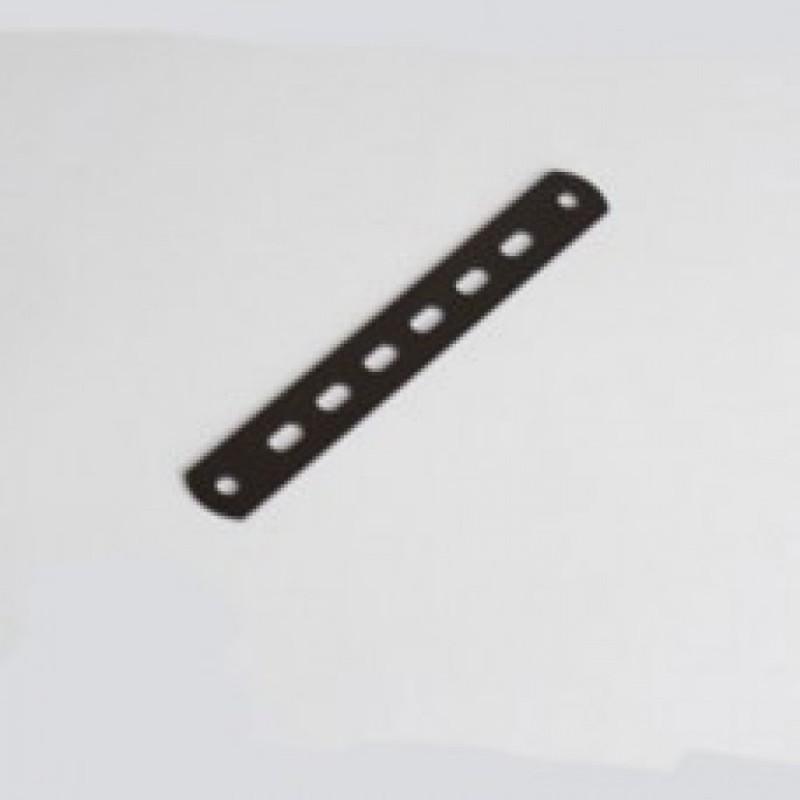 Планка крепления рампы черная 150х20х2 мм отв.D6