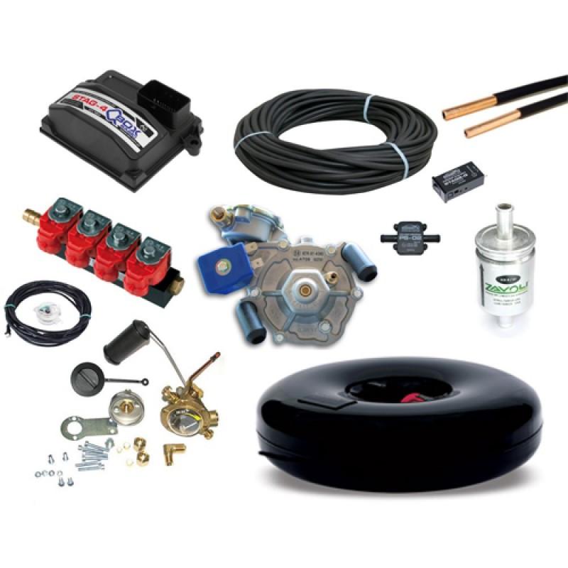 Комплект газового оборудования Stag-4 QBox Basic с тороидальным баллоном (под запаску)