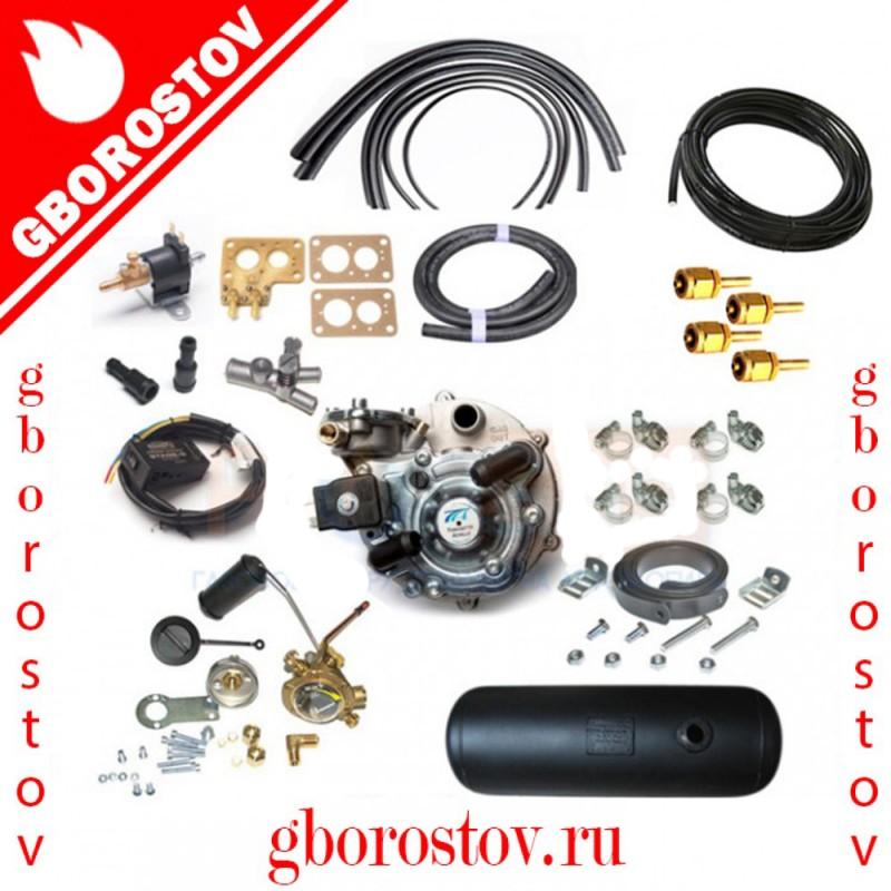 Комплект газового оборудования ГБО 2 поколения Tomasetto (карбюратор ДААЗ) с цилиндрическим баллоном 50 л.