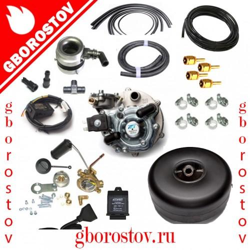 Комплект ГБО 2-го поколения под ключ Tomasetto (инжектор) с торроидальным баллоном